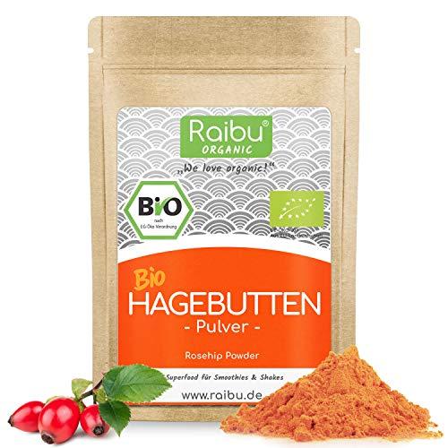 RAIBU® Hagebuttenpulver BIO 1kg + 250g extra I Hagebutten Pulver in...