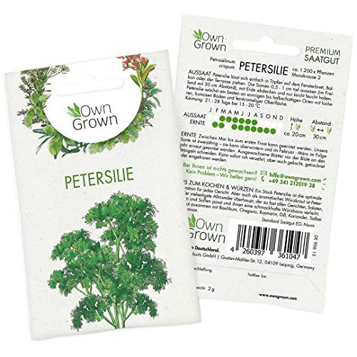OwnGrown Premium Petersilie Samen (Petroselinum crispum),...