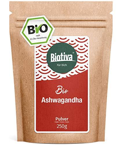 Ashwagandha Pulver Bio 250g - Ashwagandawurzel-Pulver - Schlafbeere -...