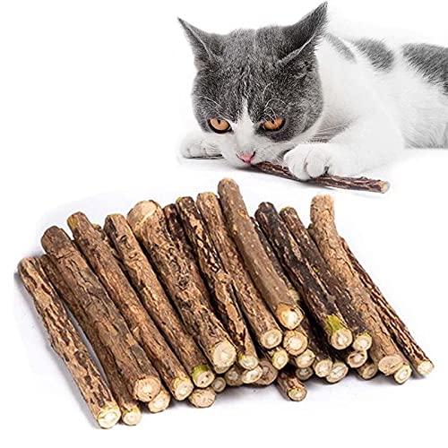 Kito Lee 30 Stück Katzenminze Sticks, Matatabi Katzen Kauhölzer,...