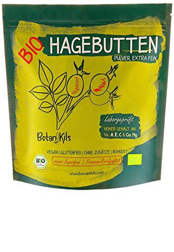 Bio Hagebuttenpulver 500g, Premium selektierte Hagebutten, Natürliche...