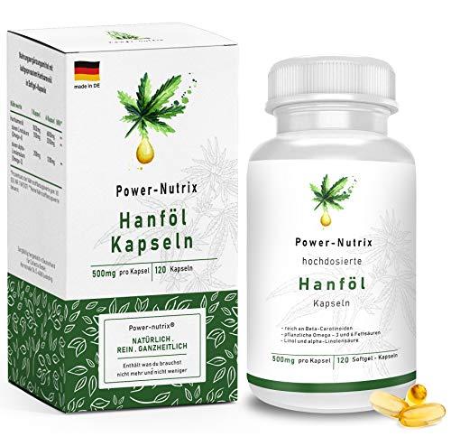 Hanföl Softgel Kapseln – hochdosiert | Premium Cannabis Sativa -...