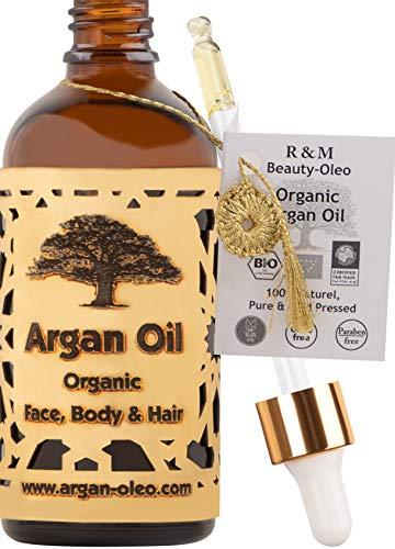 R&M Arganöl Bio kaltgepresst – Marokkanisches Fair Trade Öl für...