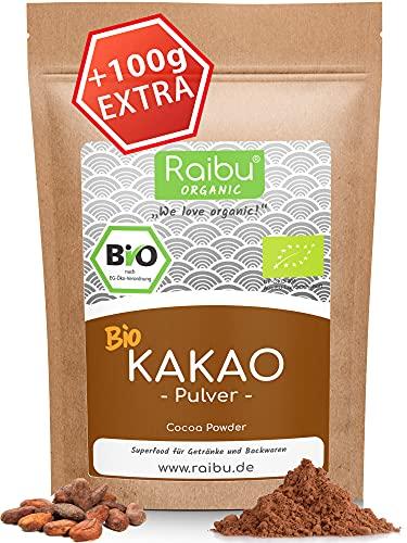 RAIBU® Kakao Pulver BIO Vegan 1kg + 100g extra I Reines Kakaopulver...