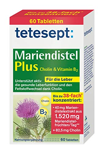 tetesept Mariendistel Plus Cholin & Vitamin B2 –...