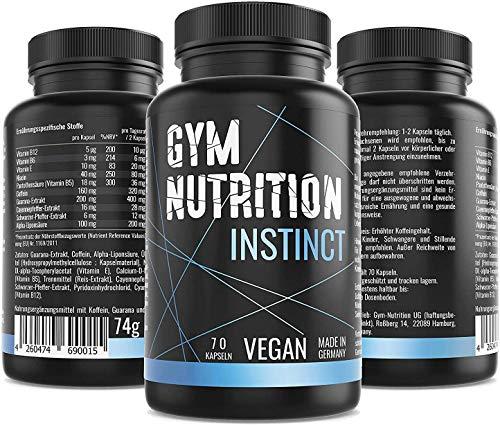 INSTINCT 2.0 Pre Workout Booster Mit 320 mg Koffein, Guarana und...