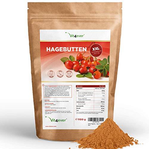 Hagebuttenpulver - 1100 g (1,1 kg) - Kurzes MHD 04/2021 - Ganze...