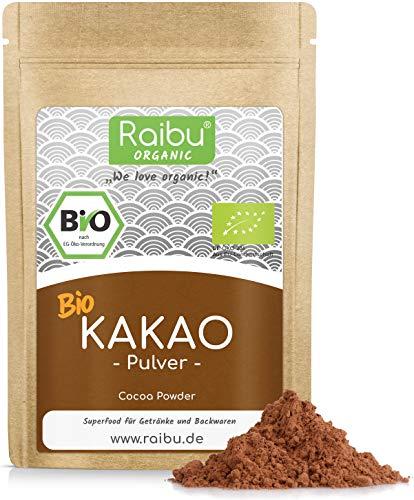RAIBU® Kakao Pulver BIO Vegan I 200g Reines Kakaopulver entölt ideal...