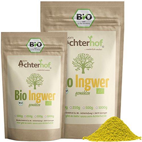 Bio Ingwerpulver 500g | Ingwer gemahlen | Ingwerwurzel gemahlen...