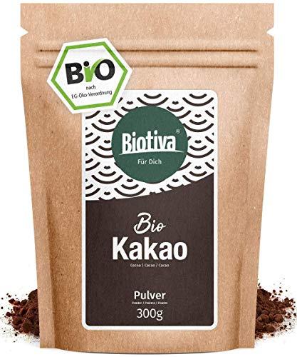 Kakao Pulver Bio 300g - 100% reines Kakaopulver stark entölt (11%...