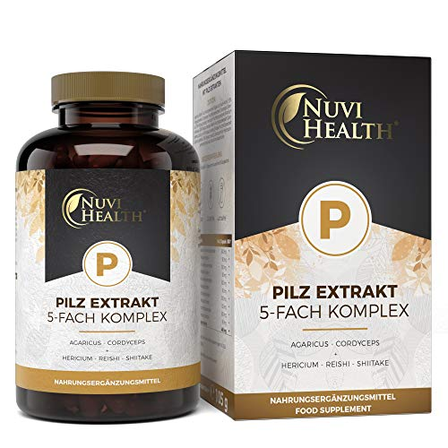 Pilz Extrakt 5-Fach Komplex - 120 Kapseln mit 750 mg Extrakt - 32%...