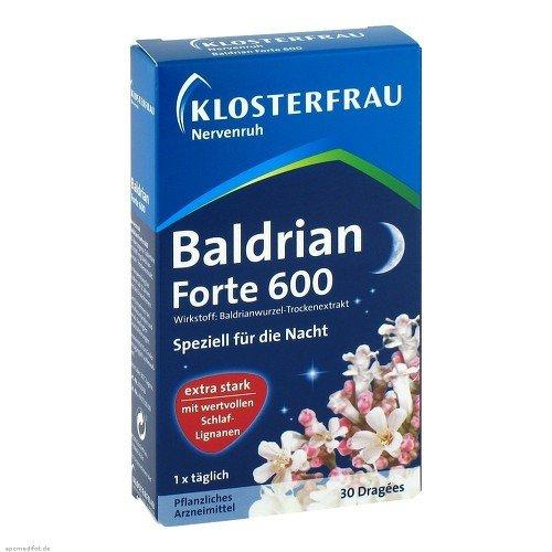 KLOSTERFRAU Baldrian forte 600 Nervenruh hochdosiert extra stark für...