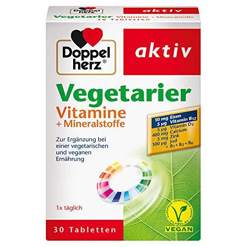 Doppelherz Vegetarier Vitamine + Mineralstoffe – Nahrungsergänzung...