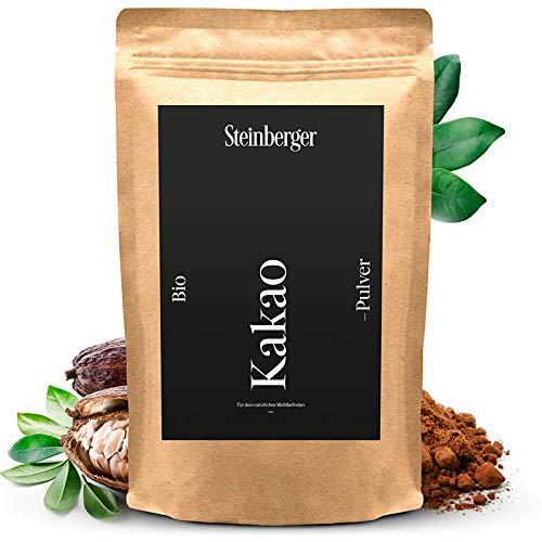 Premium BIO Kakaopulver von Steinberger | ungesüßtes stark entöltes...
