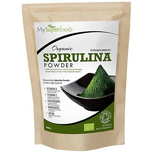 Spirulina Pulver Bio (500g), MySuperFoods, Vollgepackt mit Protein,...