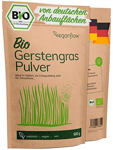 veganflow® Gerstengras Pulver Bio 500g aus Deutschland,...