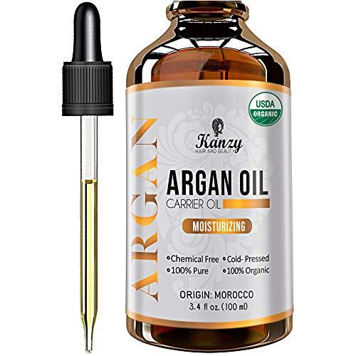 Kanzy Arganöl Haare Bio Kaltgepresst 100% Rein für Gesicht, Haut und...