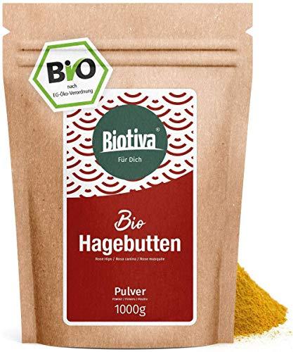 Hagebuttenpulver Bio 1000g - Rosa Canina - Rohkostqualität - aus...