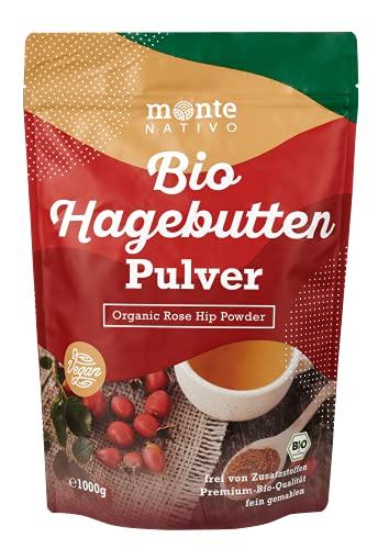 Bio Hagebuttenpulver 1kg (1000g) Monte Nativo - gemahlene Hagebutten -...