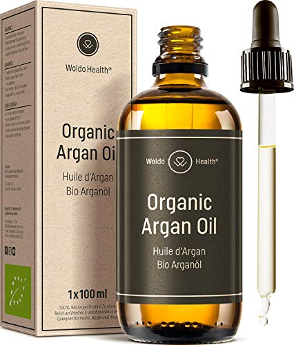 Bio Arganöl kaltgepresst für Gesicht, Haut & Haare 100ml - ohne...