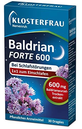 Klosterfrau Nervenruh Baldrian forte 600 | bei Schlafstörungen | für...