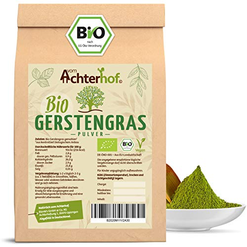 Gerstengras Pulver BIO (500g) | Aus deutschem Anbau | Rohkostqualität...