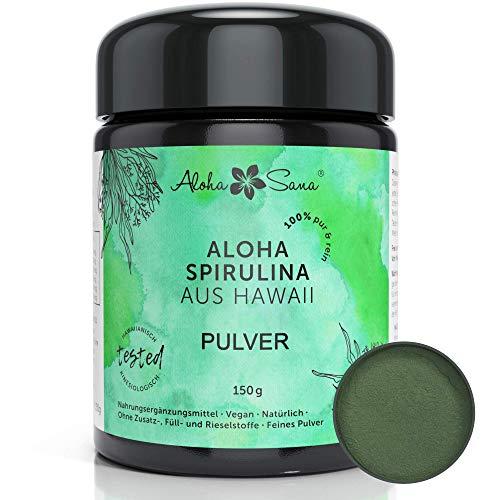 Aloha Sana - Hawaii Spirulina Pacifica Algen Pulver, Ultraviolettglas,...