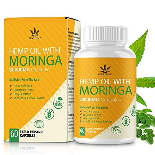 Moringa Pulver Kapseln mit natürlichem Öl, reich an Nährstoffen und...