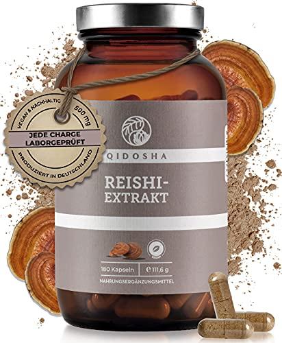 QIDOSHA® Reishi Extrakt Kapseln, hochdosiert 500 mg pro Kapsel, 180...