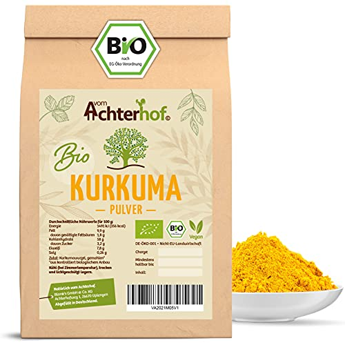 Bio Kurkuma Pulver 500g Kurkumawurzel gemahlen als Gewürz für Paste...