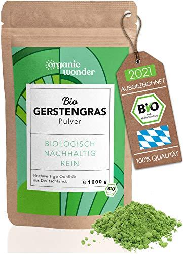 Gerstengras Pulver Bio 1000g I direkt aus Bayern I Gerstengraspulver -...