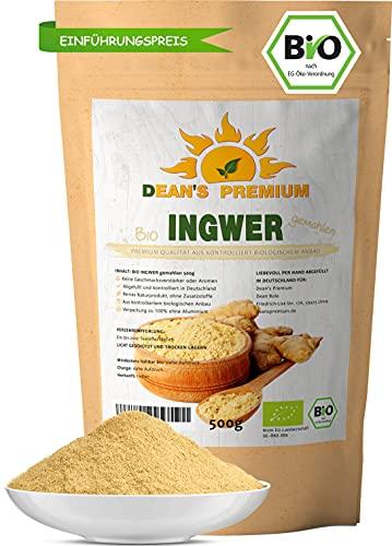 INGWERPULVER BIO 500g   Ingwer gemahlen 100 % naturbelassen   Bio...