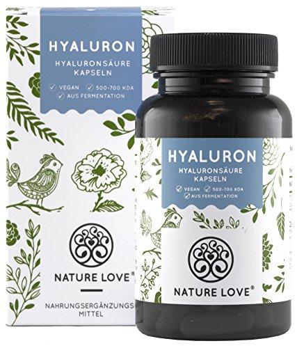 NATURE LOVE Hyaluronsäure Kapseln - Hochdosiert: 500mg -...