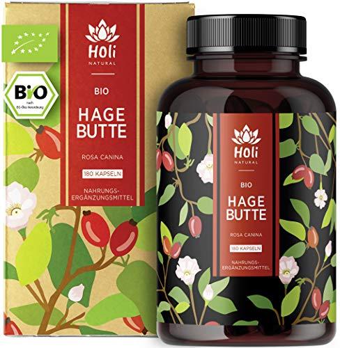 Holi Natural® BIO Hagebuttenkapseln | 180 vegane Kapseln | 3600mg je...