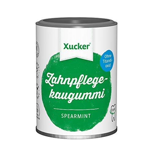 Xucker Zuckerfreie Zahnpflegekaugummis mit Xylit, Spearmint-Geschmack,...