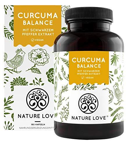 NATURE LOVE® Curcuma (Kurkuma) Balance Kapseln. Mit Kurkuma, Piperin...