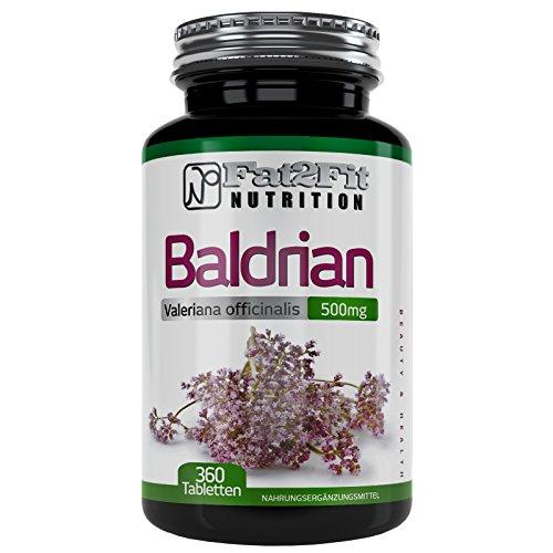Baldrian 360 Tabletten je 500mg von Fat2Fit Nutrition