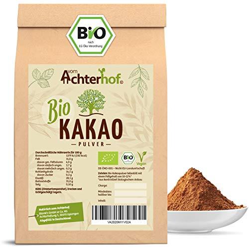 Kakao Pulver Bio (500g) Kakaopulver Rohkost stark entölt (11% Fett)...