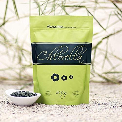 VivaNutria, 500g Chlorella Presslinge, 2000 Tabletten á 250mg, Algen...