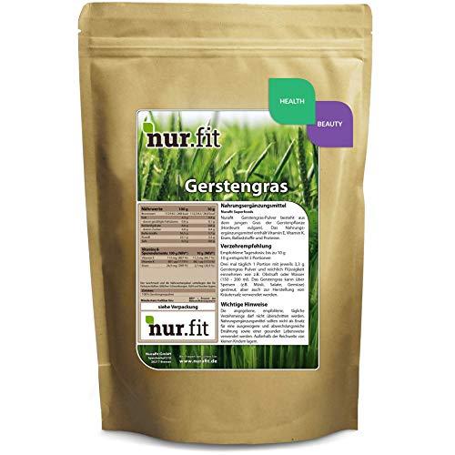 Nurafit reines Gerstengras-Pulver I Green-Smoothie Pulver I...