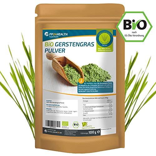 Gerstengras Pulver Bio 1000g - Laborgeprüft - 1kg Gerstengraspulver...