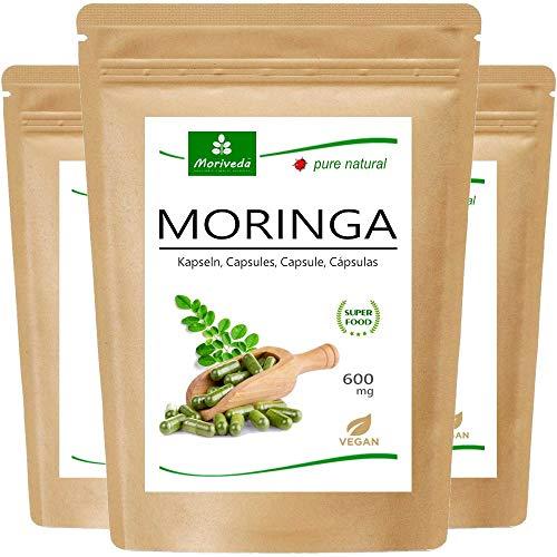 MoriVeda® Moringa Oleifera Kapseln 600mg, 360 St. I Moringa...