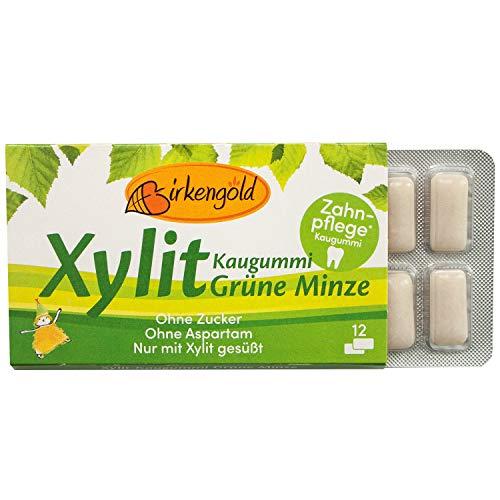 Birkengold Xylit Kaugummi Grüne Minze | Zahnpflege-Kaugummi |...