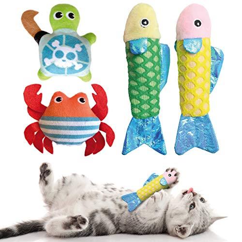 KaraLuna Katzenspielzeug Set mit Katzenminze I 4 hochwertige...