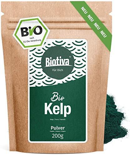 Kelp Bio Pulver hochdosiert - 200g - Natürliches Jod - Kelpalgen -...