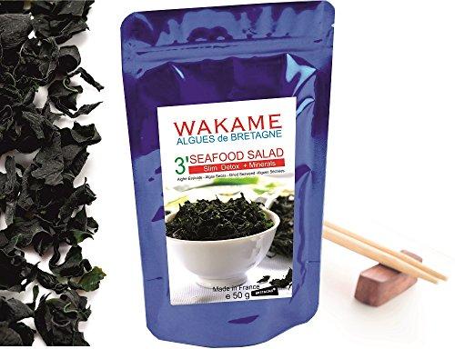 Wakame Algen getrockneter Instant 3' Algen 100 % Wakame-Flocken...