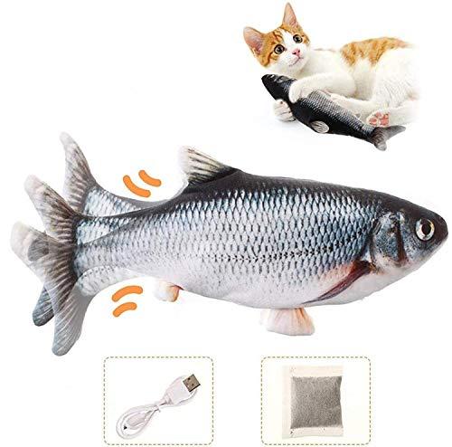 Charminer Katzenspielzeug Elektrische Fische, Katze Interaktive...