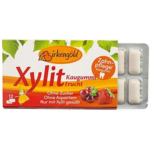Birkengold Xylit Kaugummi Frucht , Zahnpflege-Kaugummi , zuckerfrei ,...