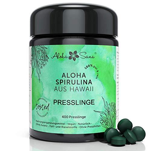 Aloha Sana | Hawaii Spirulina Presslinge im Ultraviolettglas | 400...