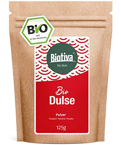 Dulse Pulver Bio 125g - Palmaria Palmata - abgefüllt und zertifiziert...